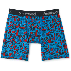 Smartwool Merino 150 Print Boxer Caleçon Homme, ocean blue balabar print